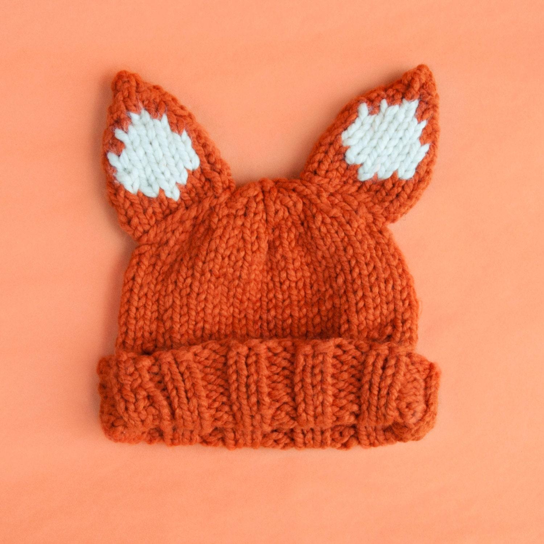Beginner Knitting Kits Canada : Knitting kit beginners super chunky fox hat pattern and