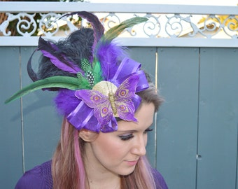Butterfly Feather Fascinator