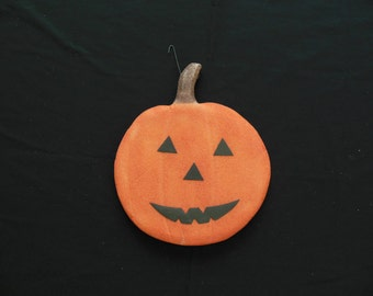Styrofoam Jack O Lantern Halloween Foam Pumpkin with Happy Face Wall Hanging