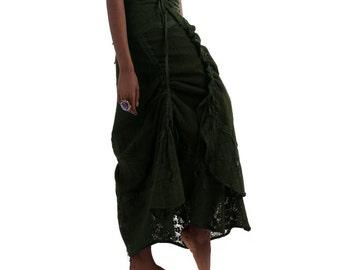 SALE!!! STEAMPUNK SKIRT, Elf skirt, pixie skirt, gypsye skirt, Gekko skirt, Gcsktr
