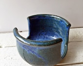 Sponge Holder Blue, Handmade Stoneware in Indigo Blue