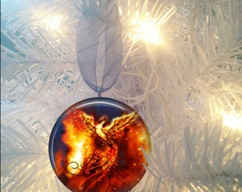 Phoenix Firebird #3 Christmas Tree Ornament