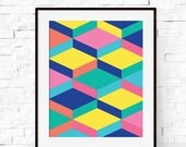 Geometric Art Print - Wall Poster - Geometric Art - Modern Poster - Kids Decor - Nursery