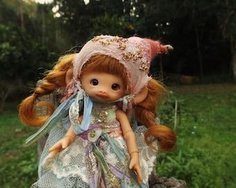 tan mooki mouse full set  bjd  fairy elf fairie doll  ready to ship last one!!