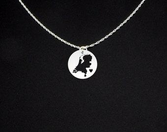 Netherlands Necklace - Netherlands Jewelry - Netherlands Gift