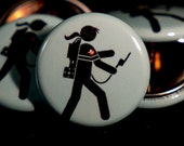 """Ghostbusters   Lady Ghostbuster   1"""" Buttons"""