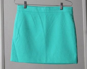 Minty Seafoam Green 90s Mod Mini Skirt