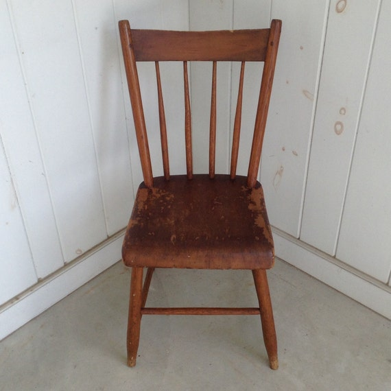 Vintage Wooden Kitchen Chairs: Items Similar To Antique Wooden Spindle Back Chair