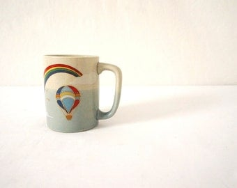 Rainbow Vintage Mug for Coffee or Tea