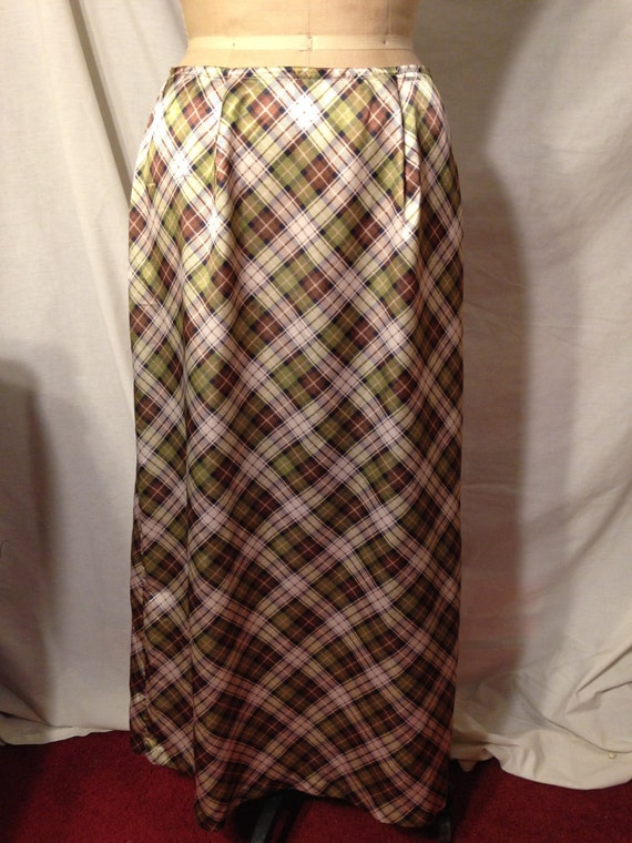 1980's Regatta Vintage Plaid Skirt Size Large B9