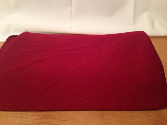 Deep Red Polyester Fabric F38