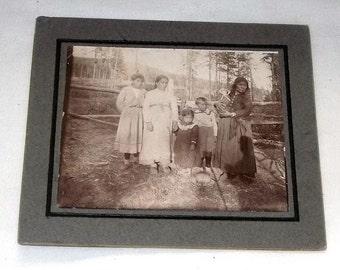 Cabinet Card, Native American Indian Women, Photograph ca1900