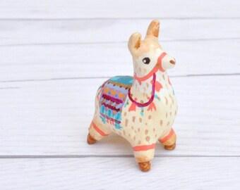 Alpaca Miniature Figurine, Animal Sculpture, Animal Totem