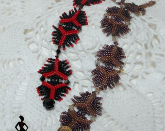 "Beading tutorial Herringbone Peyote stitch Fringing ""Triple Play"" bracelet INSTANT DOWNLOAD"