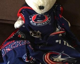 Columbus Blue Jackets Hockey Fleece Sports Baby Blanket
