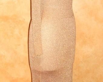 Vintage Jon Michaels Gold LurexSlim Fit Maxi Dress (S)Jon Michaels FREE SHIPPING