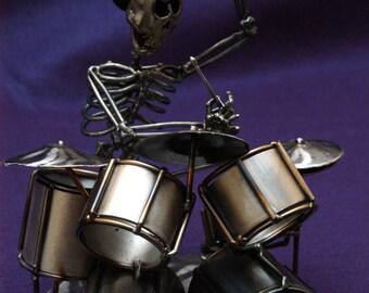 Captain Crazy Styxx, The Morgueans, OOAK Metal Sculpture