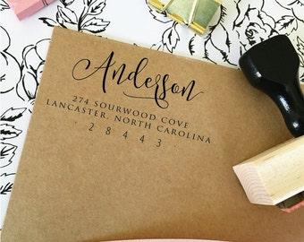 Bridal Shower Gift, Self Inking Return Address Stamp, Return Address Stamp, Rubber Address Stamp, Wedding Gift, Wedding Stamp  (T365)