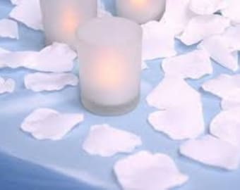 100 White Rose Petals Pre Separated Faux Silk Table Scatter Petals Polyester Bright White Rose Petal Petals White Flower Petals White Petals