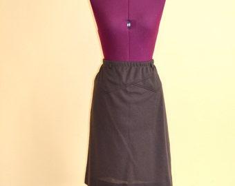 1970s Vintage Plus Size Cos Cob Brown A-line Skirt size 18 XL XXL