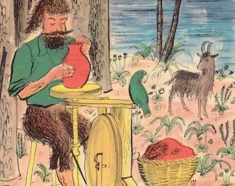 The Life & Adventures of Robinson Cruesoe by Daniel Defoe, illustrated by Roger Duvoisin