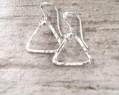 Geometric Earrings, Triangle Earrings, Geometric Jewelry, Valentine's Day