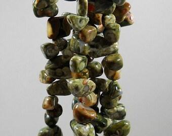 Green Rhyolite Jasper Nugget  Beads 8mm - 16mm