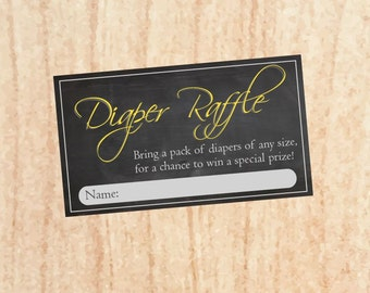 Diaper Raffle tickets baby shower game - You are my sunshine theme printable instant download