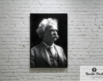 Mark Twain Print, Wall Decor, Wall Art