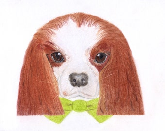 Cavalier King Charles Spaniel Cards: Set of Six Cavvie GIFT TAGS