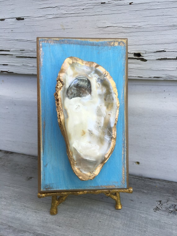 oyster shell decor oyster shell coastal oyster decor gold leaf oyster shell 1360