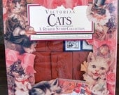 Rubber Stampede: Victorian Cats ~ A Rubber Stamp Collection by Cynthia Hart 1992 ~ 7 Cat Stamps plus 4 extra stamps