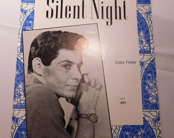 Vintage Silent Night Sheet Music by Franz Gruber - 1945 - from DustyMillerAntiques