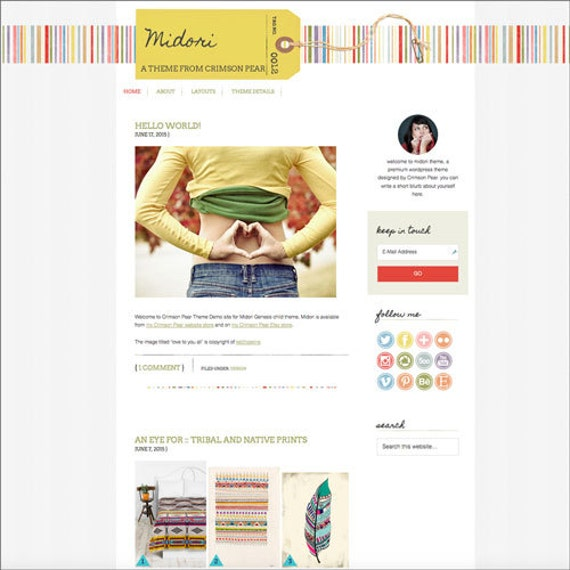 WordPress Theme - Responsive WordPress Theme - Genesis Child Theme - Blog theme template: Midori