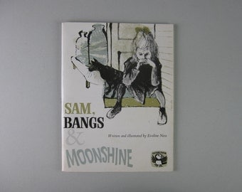 Vintage Book, Sam Bangs and Moonshine, Picture Puffin. Evaline Ness, Illustration, mid century art