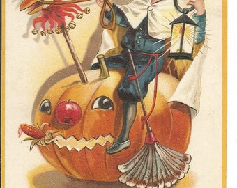 Antique Halloween Alein Muller Postcard