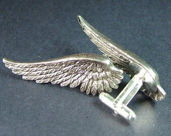 For Him Silver Wing Cufflinks