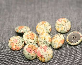 Liberty of London Claire Aude Yellow Fabric Covered Buttons