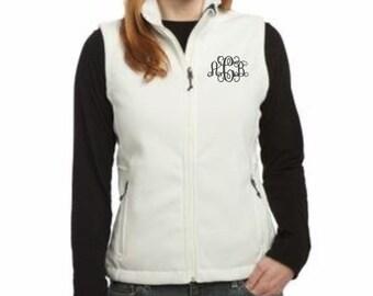 Womens Vest, Monogram Vest, Fleece Vests, Womens Fleece Vest, Christmas Gift, Christmas Gift Ideas, Personalized Gifts, Monogram Fleece Vest