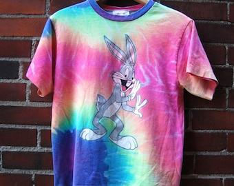 90s Bugs Bunny Psychedelic Tie Dye T-Shirt