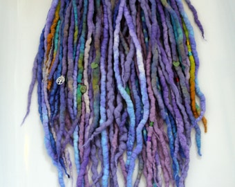 Tie Dye wool dreadlocks x60 DE