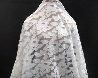 Lace, Ivory Lace, Bridal Lace, Venetian Lace, Alecon Lace, Lace Fabric, Soft Lace, C10