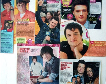 JOSH HUTCHERSON ~ The Hunger Games, Bridge To Terabithia, Journey to the Center of Earth, Peeta Mellark ~ Color Articles for Scrapbooking