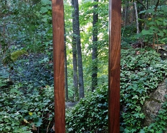 Walnut Mirror, Solid Walnut Mirror, Large Wall Mirror, Modern Mirror, Rustic Mirror, Full Length Mirror, Leaning Mirror