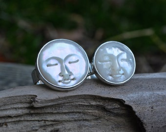 Sale - Man in the Moon Ring, Pearl Man in the Moon, Man in the Moon, Mother of Pearl, Pearl, Pearl ring, MOP ring,