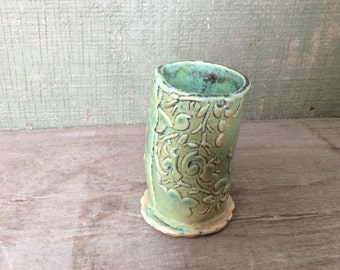 Pottery Vase signed Anette