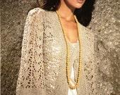 Knit Kimono, Lace Kimono, Lace Cover Up,  Sizes S to XXXL