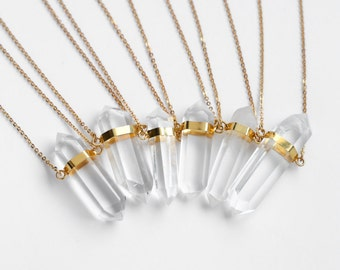 Large Crystal Point necklace