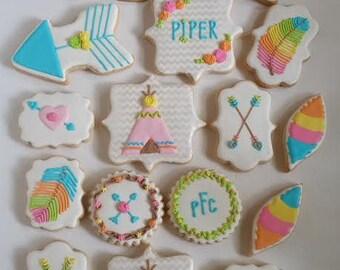 Boho/Shabby Chic/Cottage Chic Birthday/Shower/Party/Wedding/ 1st Birthday Cookies!