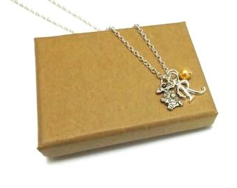 Rabbit Necklace or Rabbit Bracelet, Bunny Necklace, Bunny Bracelet, Rabbit Gift, Easter Jewellery, Animal Jewellery, Spring Jewellery
